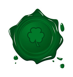 Stamp with clover for Saint Patrick day vector image
