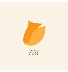 Stylized silhouette of fox on a light background vector image