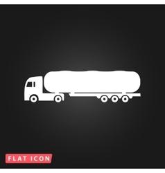 Tank car icon Trailer vector image
