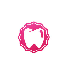Teeth care symbol in dodecagon for dentist vector