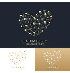 template heart logo creative concept vector image