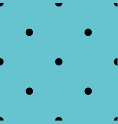 tile pattern with black polka dots on blue vector image