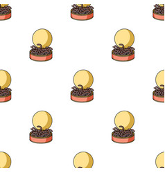 Tincan full of worms icon in cartoon style vector