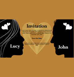 unusual wedding invitation with woman and man vector image