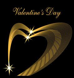 valentine s day congratulatory inscription two vector image