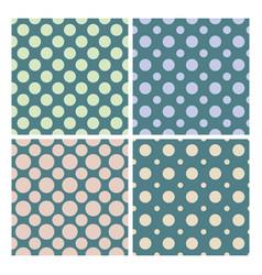 vintage 1950 polka dot set seamless pattern vector image