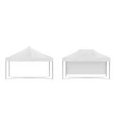 White folding promotion tent outdoor marquee vector