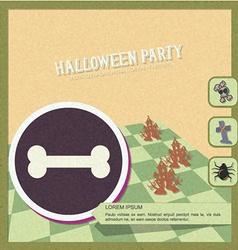 With halloween and halloween symbol vector