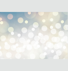 abstract white bokeh on blue yellow background vector image