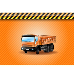 construction car orange vector image