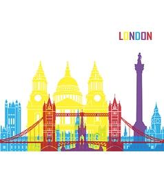 London skyline pop vector image vector image