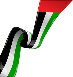 United arab emirates ribbon flag on white vector