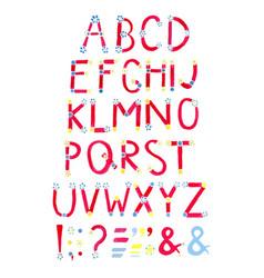 watercolor font hand drawn alphabet watercolor vector image vector image
