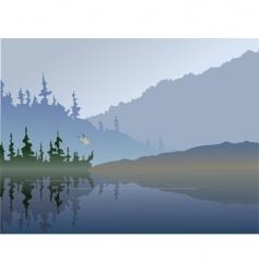 fall lake vector image