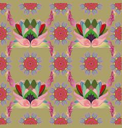 flat flower elements design seamless floral vector image