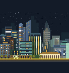 modern urban city landscape flat night vector image