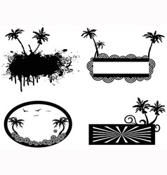 palm tree frame vector image vector image