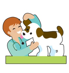 Puppy and Vet vector image vector image