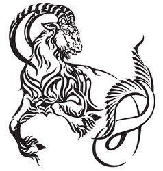 capricorn tribal tattoo vector image vector image