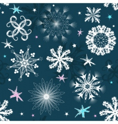 dark blue Christmas seamless pattern vector image vector image