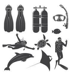 scuba diving gear vector image