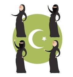Set of muslim women vector image