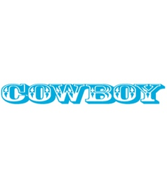 Cowboy type vector image