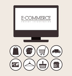 E-commerce design vector image