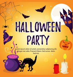 halloween holiday background with bright vector image