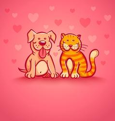 pets pink love vector image