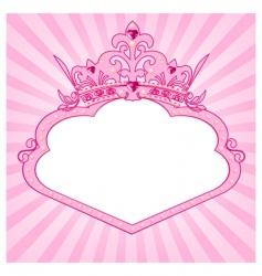 princess crown frame vector image vector image