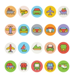 Transport Icons 6 vector image vector image
