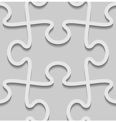3d paper seamless puzzle pattern vector