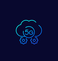 5g network icon line vector