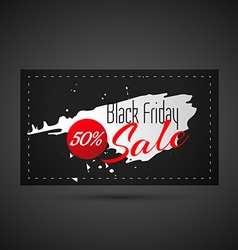 abstract black friday sale card vector image