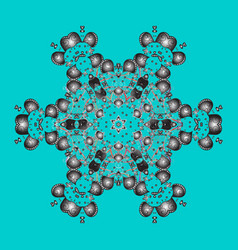 Abstract mandala or whimsical snowflake line art vector