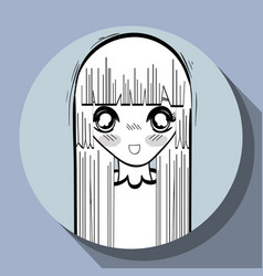 anime nice surprised woman vector image