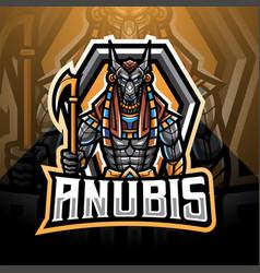anubis esport mascot logo design vector image