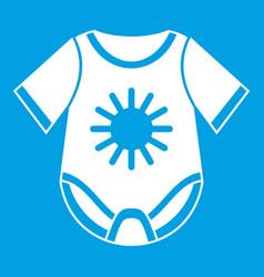 Baby bodysuit icon white vector