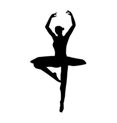 ballet dancer the black color icon vector image