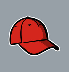 Baseball red hat logo icon asset vector