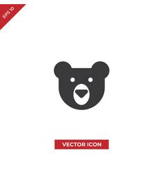 bear head icon vector image