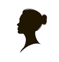 Beautiful female profile vector