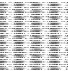 binary code visual representation of binary data vector image