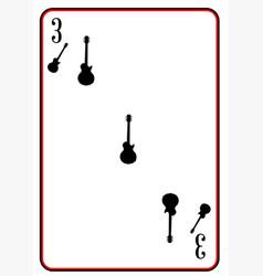 Black solid guitar three vector