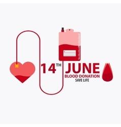 Blood donation banner Medical vector image