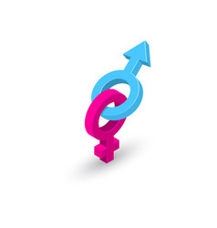 bound gender symbols vector image