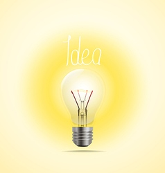 Bright lamp Idea concept vector