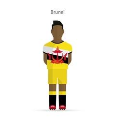Brunei football player Soccer uniform vector image