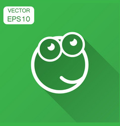 cartoon face icon in flat style smiley face with vector image